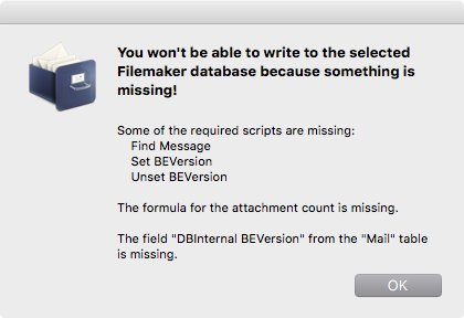 Filemaker dialog when something is missing